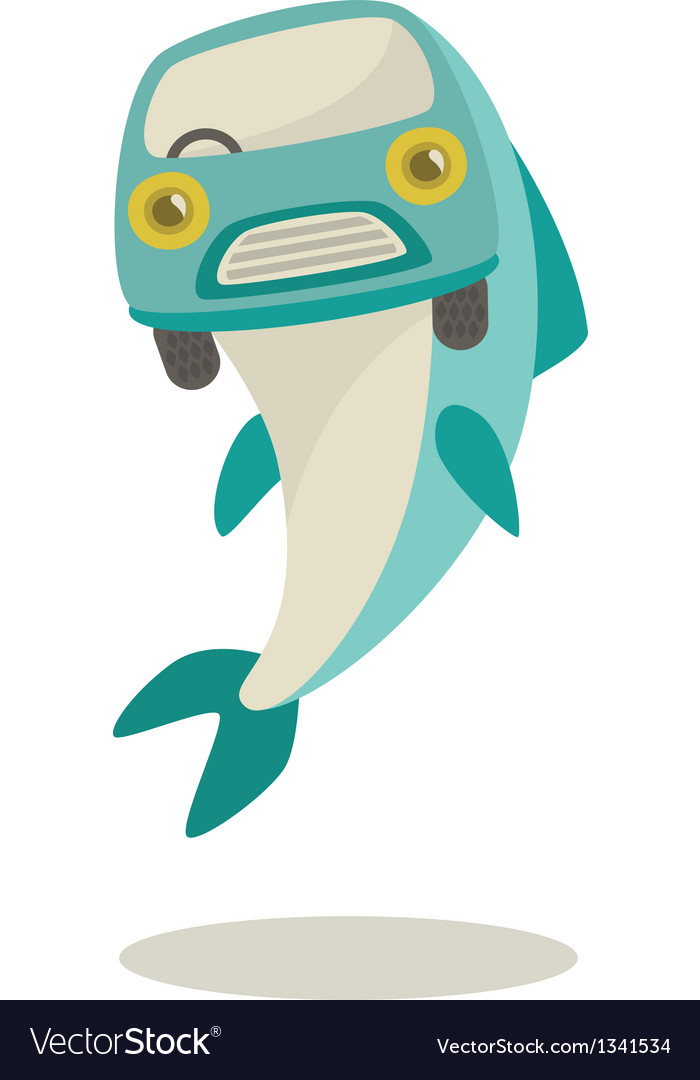 Fish-mobile vector | Price: 1 Credit (USD $1)