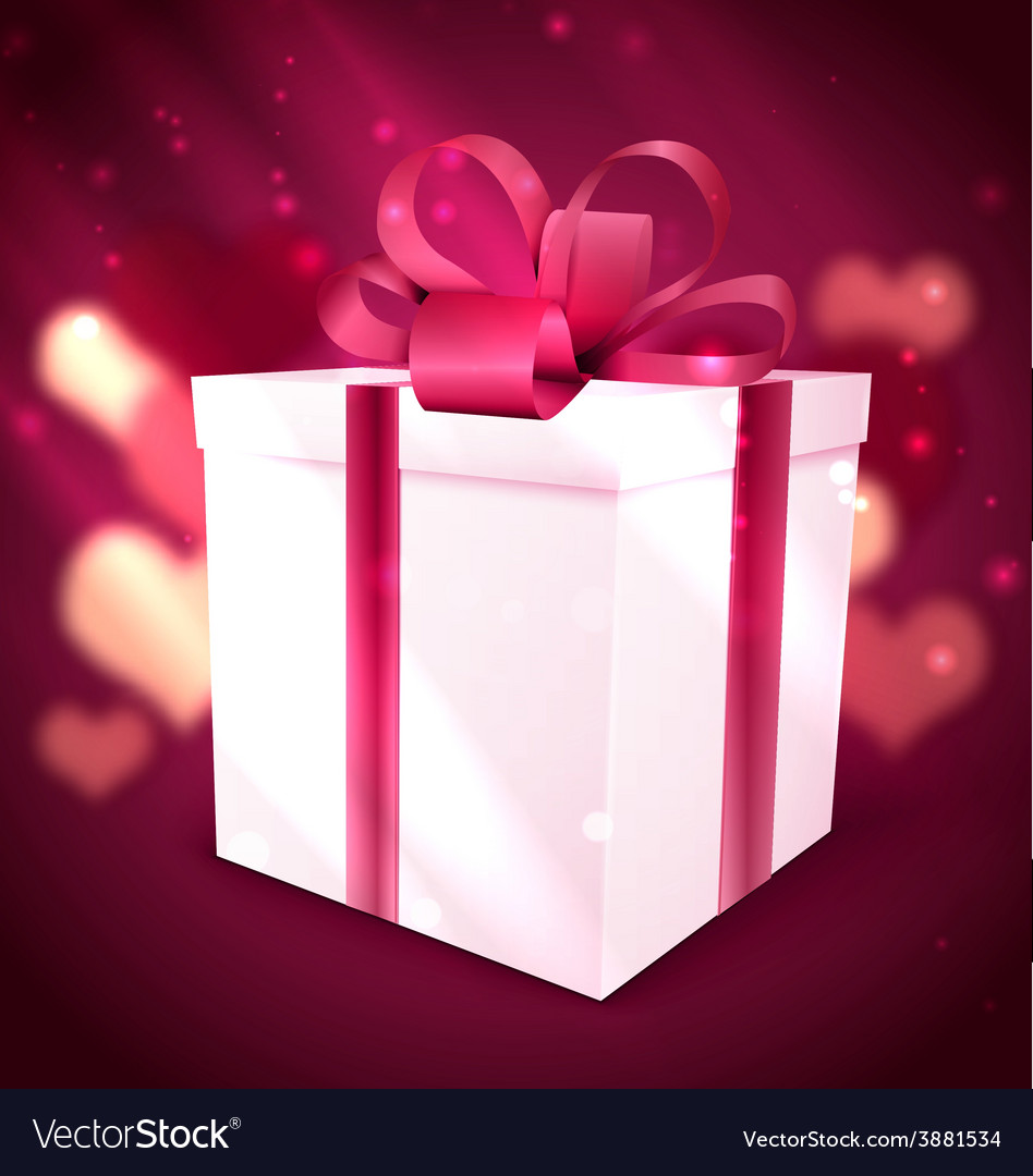 Gift box valentine background vector | Price: 1 Credit (USD $1)