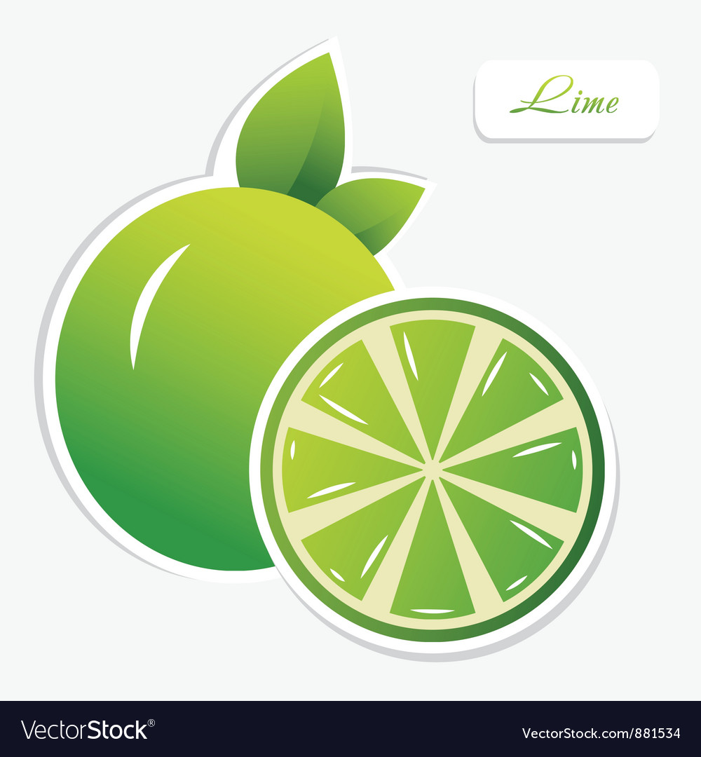 Lime sticker vector | Price: 1 Credit (USD $1)
