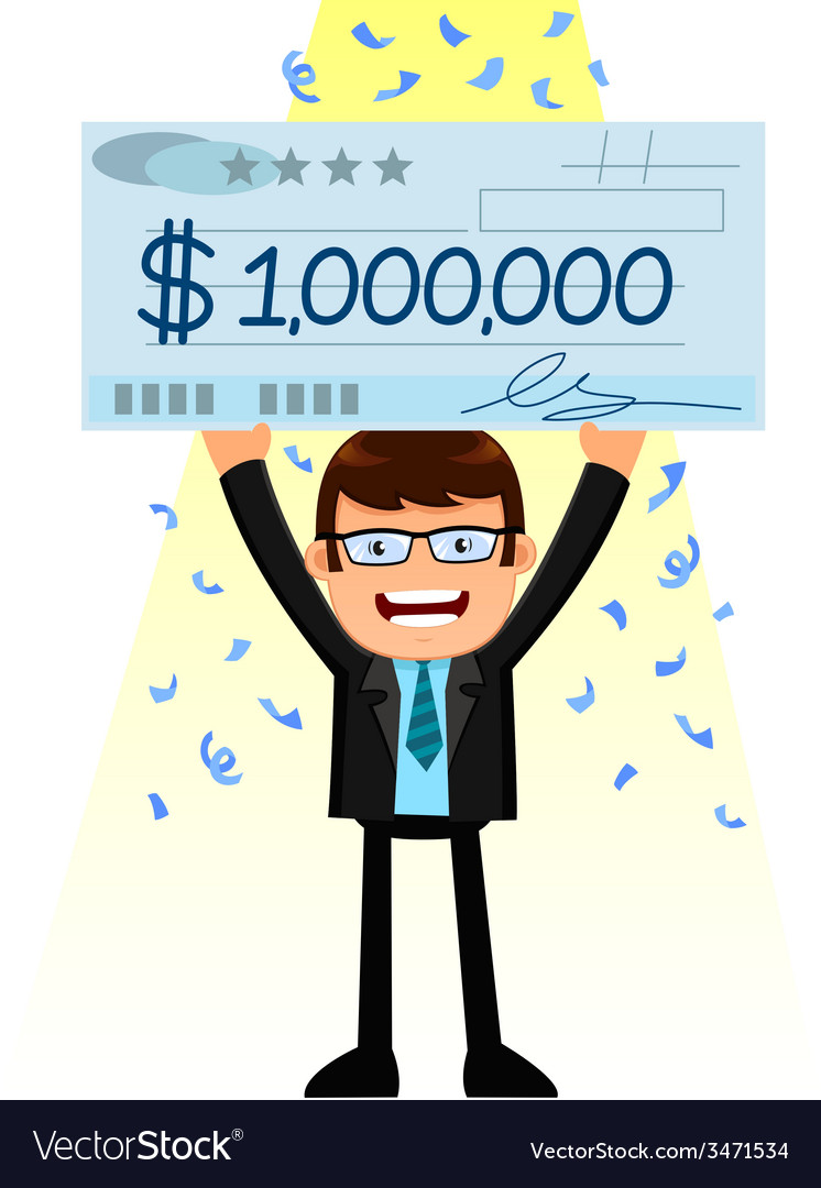 Man with a big check vector | Price: 1 Credit (USD $1)