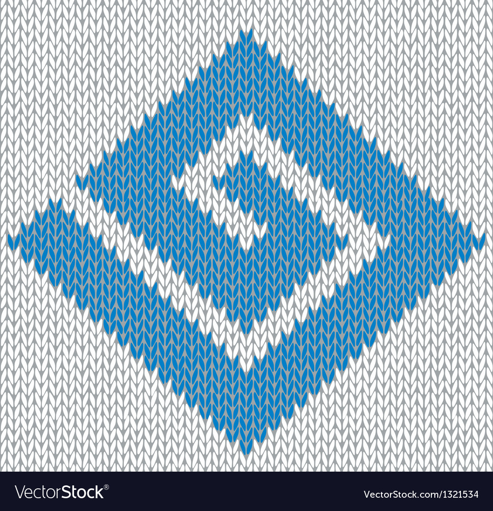 Meander knitted ornament element vector | Price: 1 Credit (USD $1)