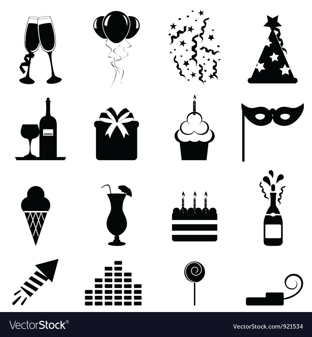 Party icon vector | Price: 1 Credit (USD $1)