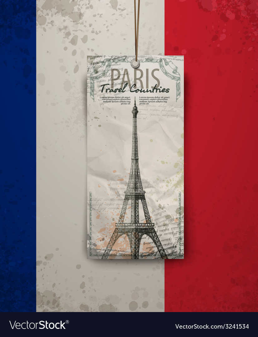 Sketch of the paris eiffel tower vector | Price: 1 Credit (USD $1)