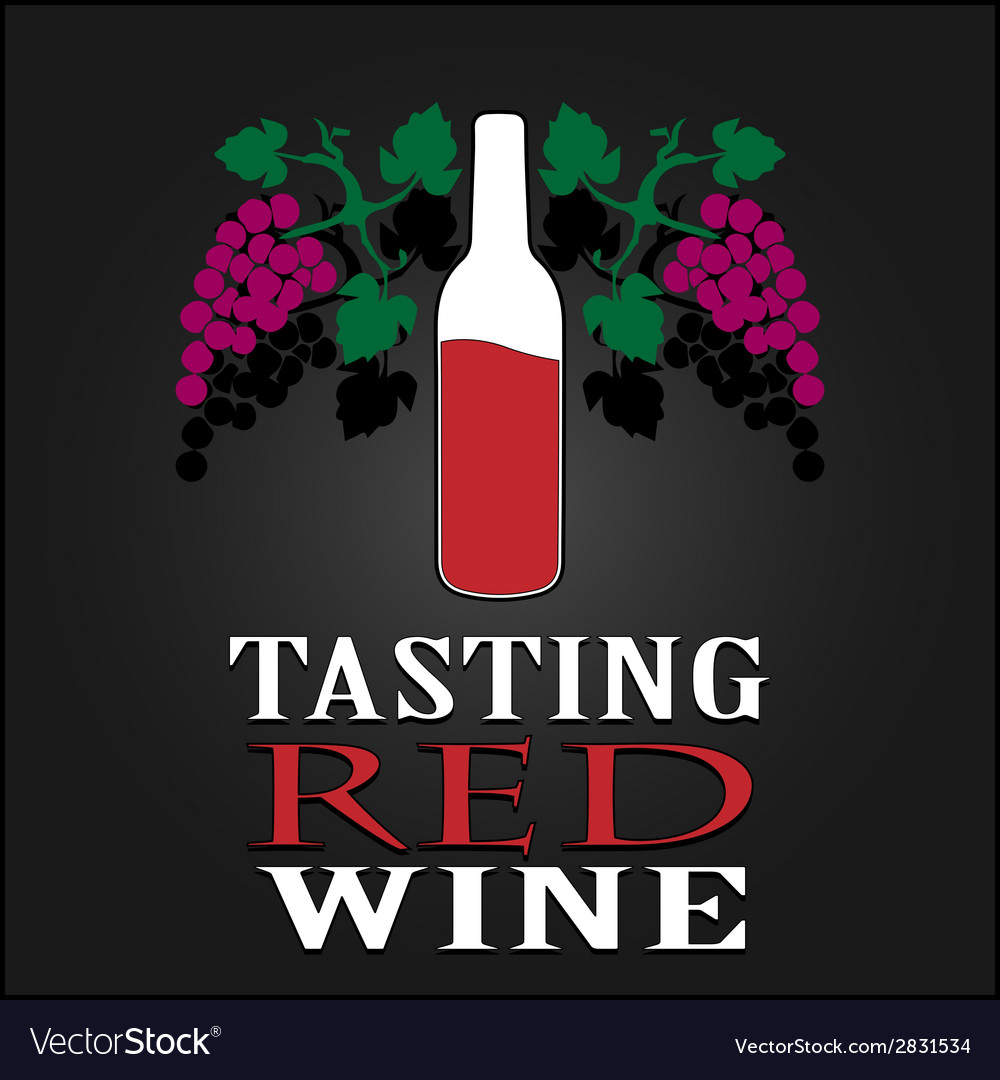 Tasting red wine poster vector | Price: 1 Credit (USD $1)