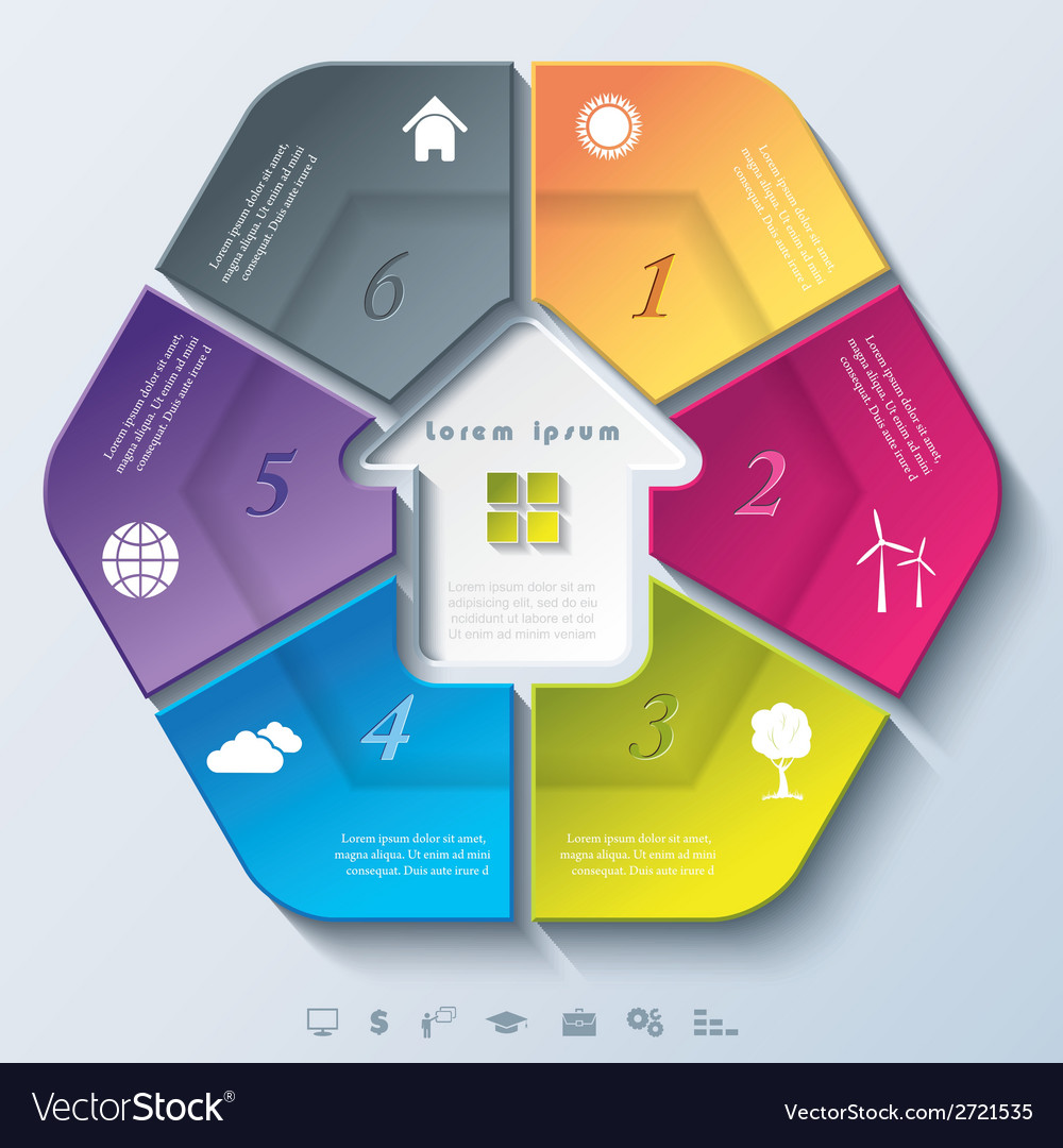 Abstract modern template for real estate business vector