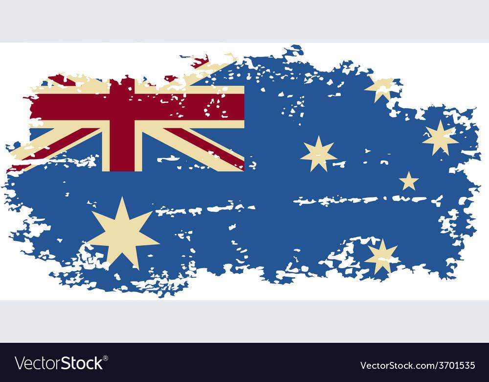 Australian grunge flag vector   Price: 1 Credit (USD $1)