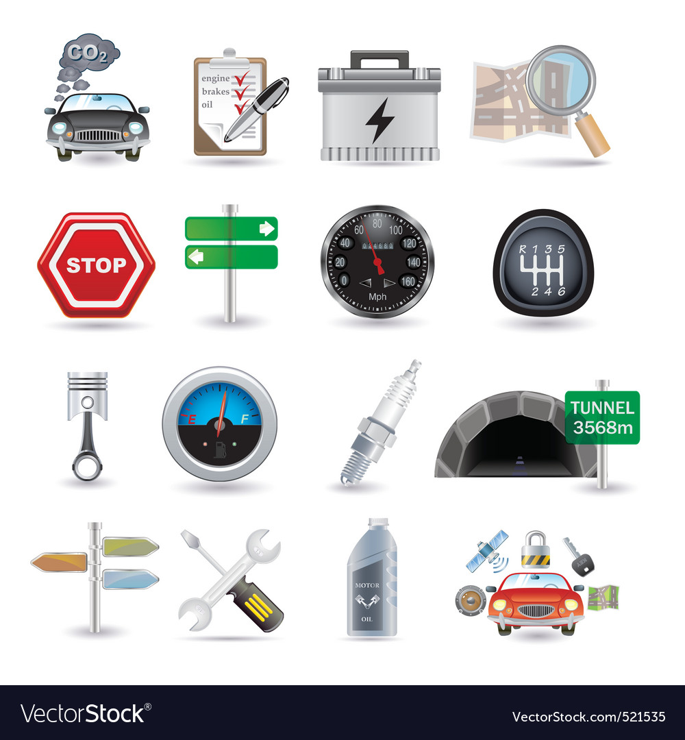 Car parts and icons vector | Price: 5 Credit (USD $5)
