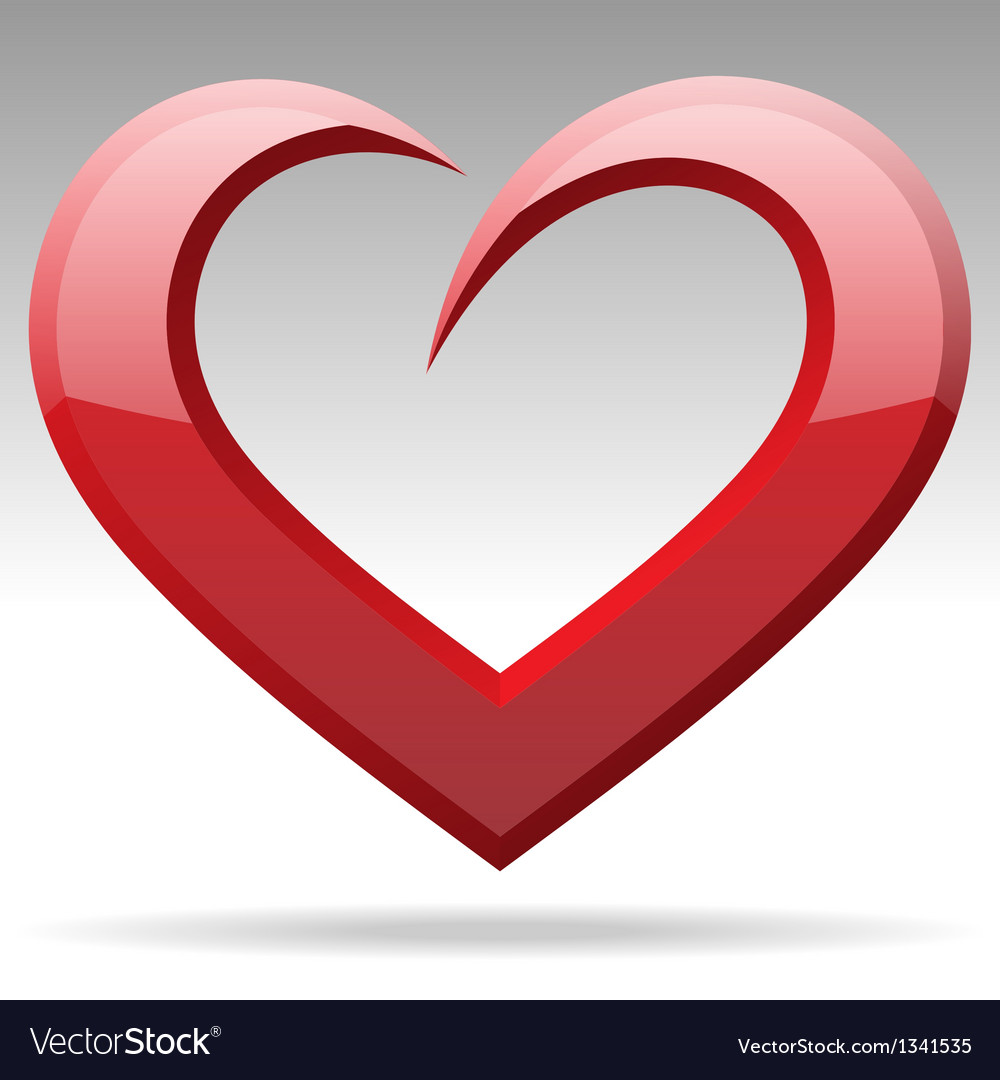Heart shape object vector | Price: 1 Credit (USD $1)