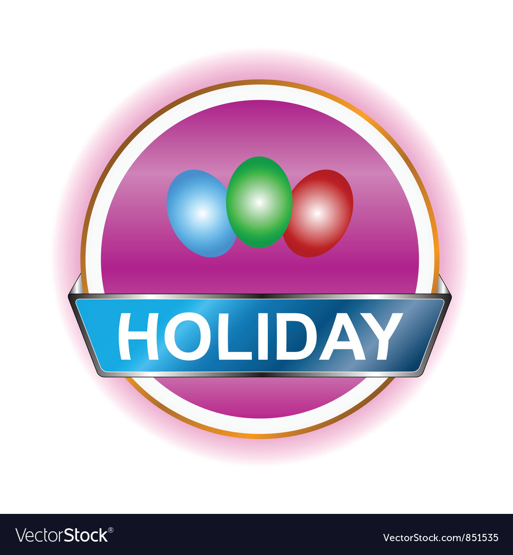 Holiday icon vector | Price: 1 Credit (USD $1)