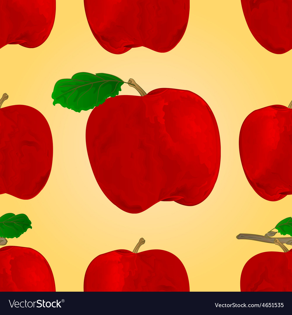 Seamless texture red apple fruit healthy lifestyle vector | Price: 1 Credit (USD $1)