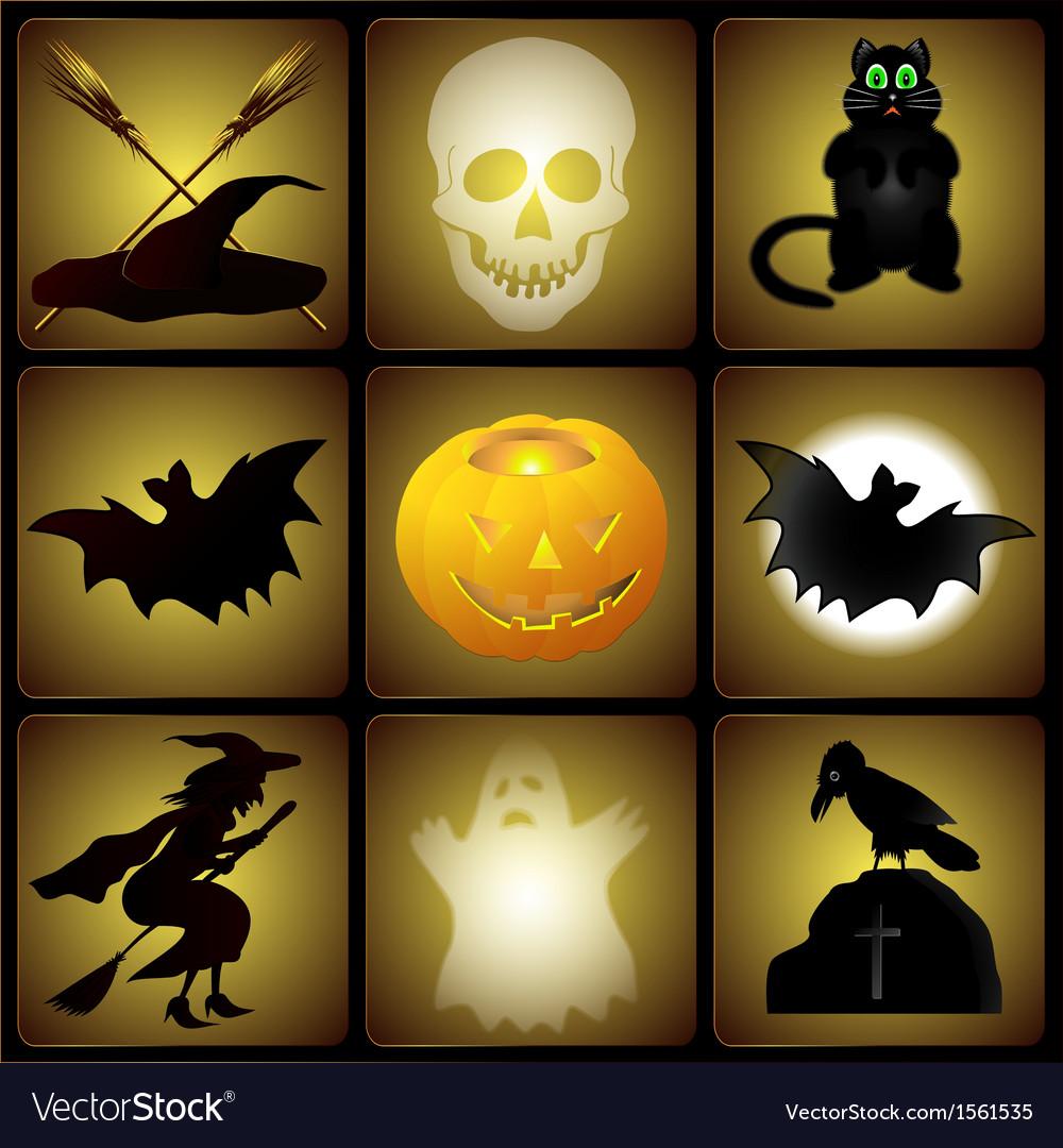 Set of halloween vector | Price: 1 Credit (USD $1)