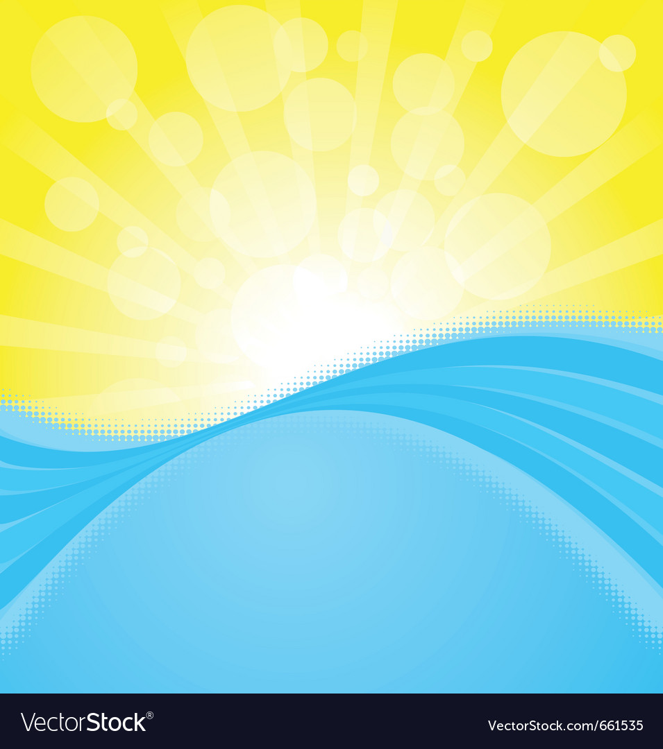 Sunset on the ocean vector | Price: 1 Credit (USD $1)