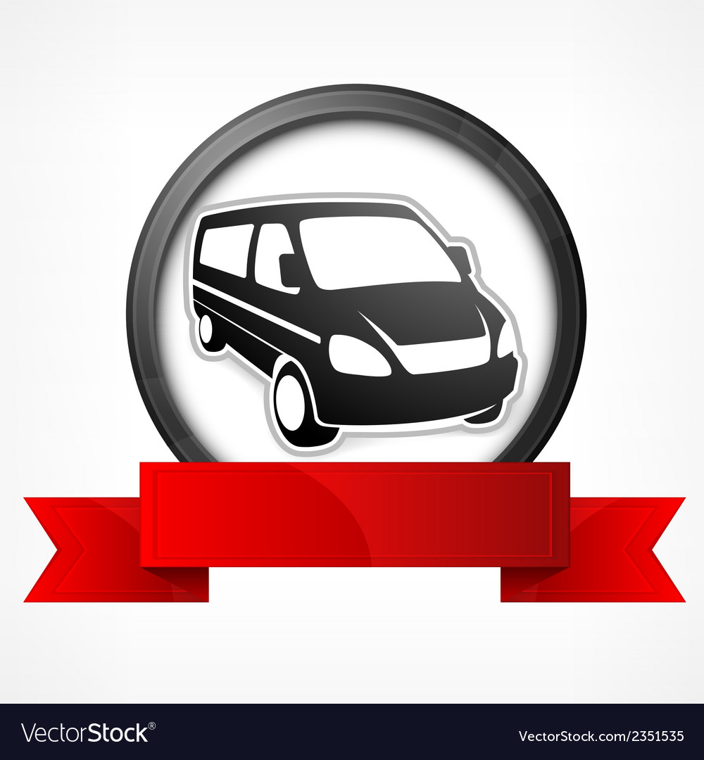 Van sign vector | Price: 1 Credit (USD $1)