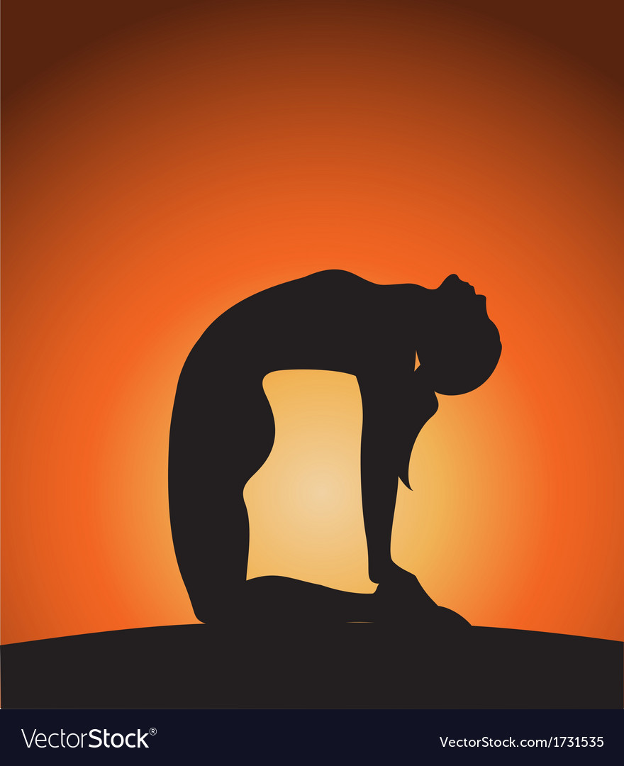 Woman in yoga pose vector | Price: 1 Credit (USD $1)