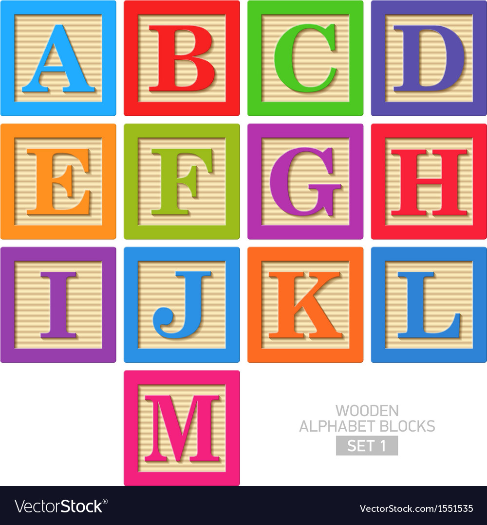 Wooden alphabet blocks vector | Price: 1 Credit (USD $1)