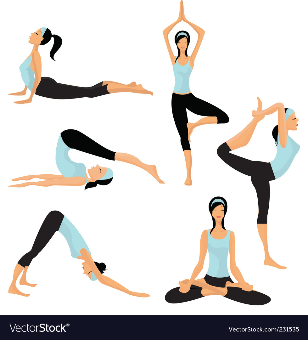 Yoga positions vector | Price: 3 Credit (USD $3)
