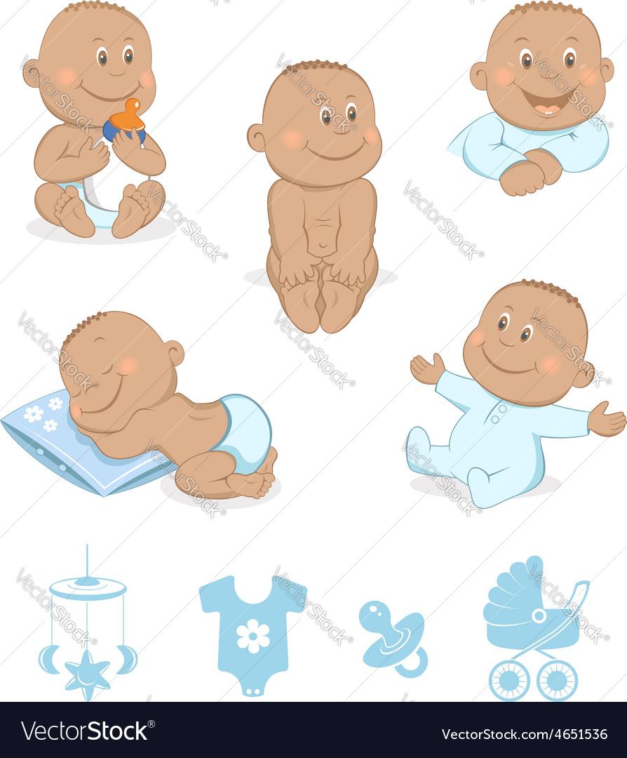 African baby boy set vector   Price: 1 Credit (USD $1)