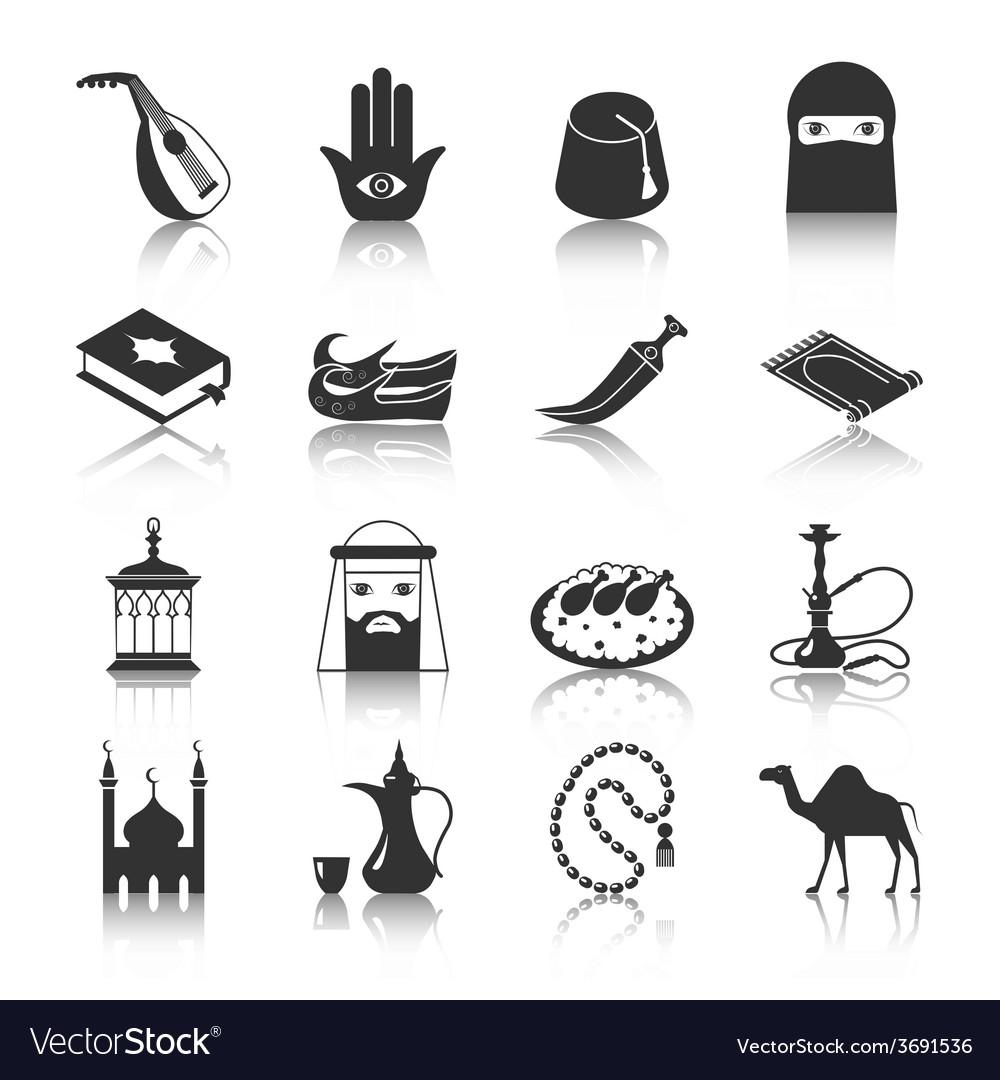 Arabic culture icon vector | Price: 1 Credit (USD $1)