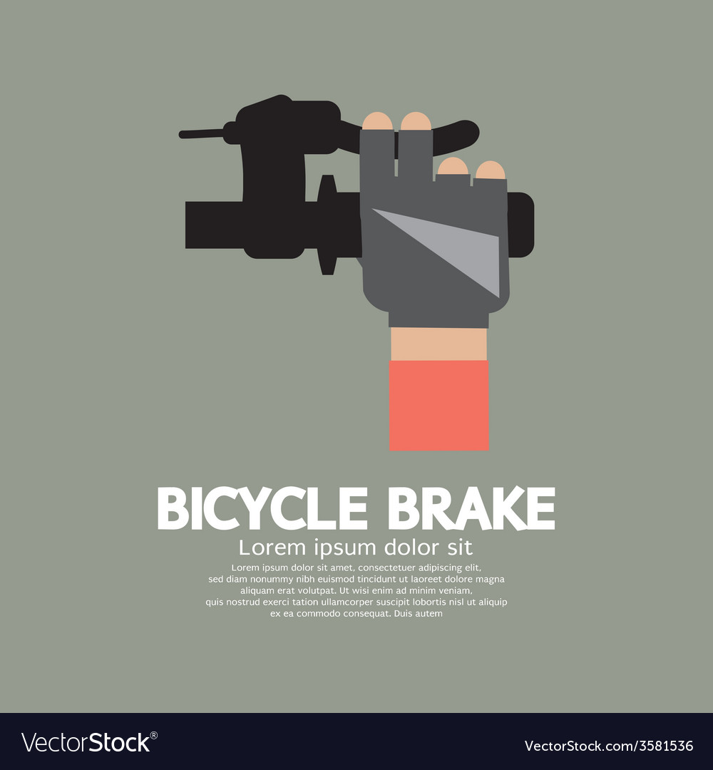 Bicycle brake graphic vector | Price: 1 Credit (USD $1)
