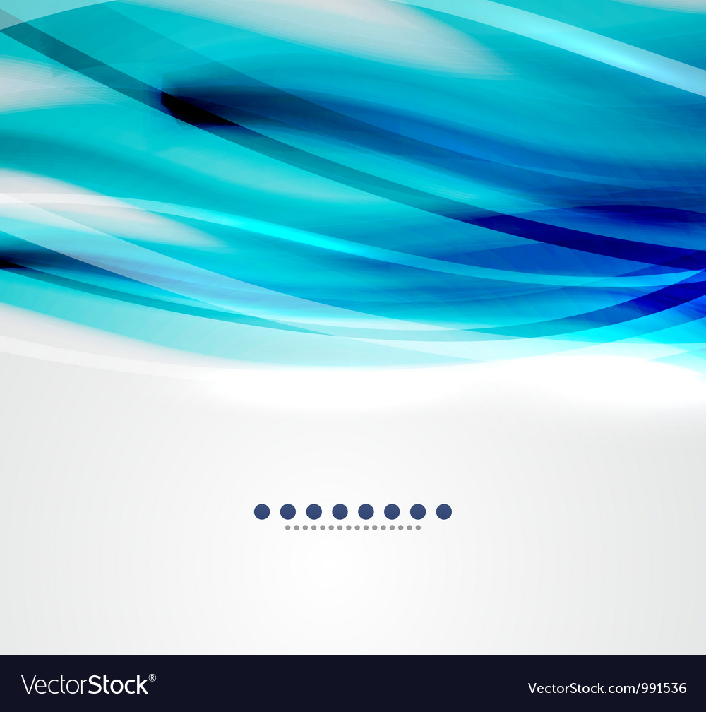 Blue wave business template vector | Price: 1 Credit (USD $1)