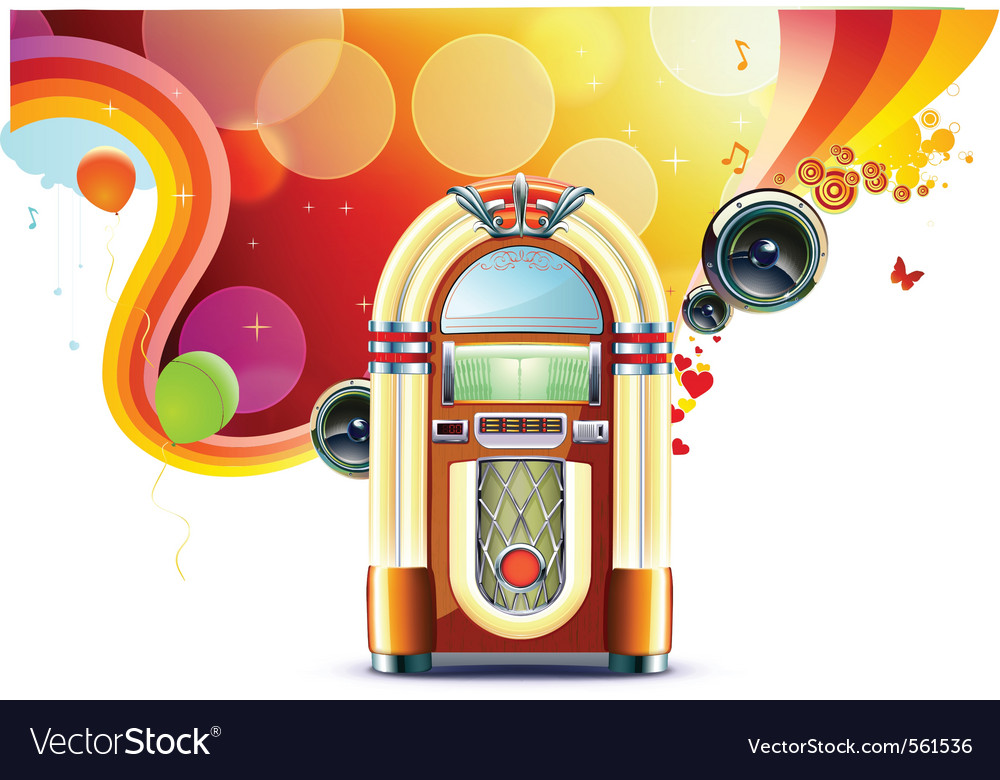 Classic juke box vector | Price: 3 Credit (USD $3)
