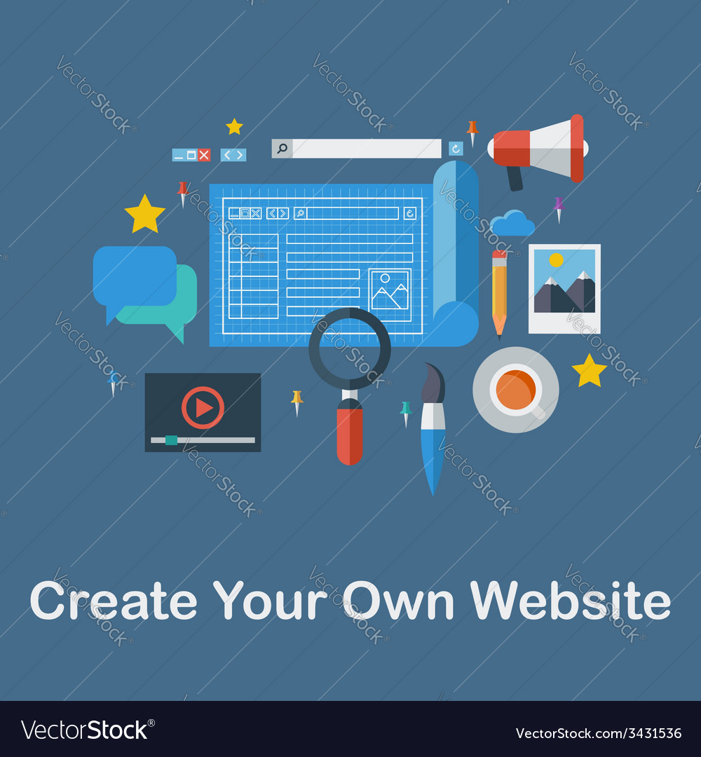 Create your own website vector | Price: 1 Credit (USD $1)