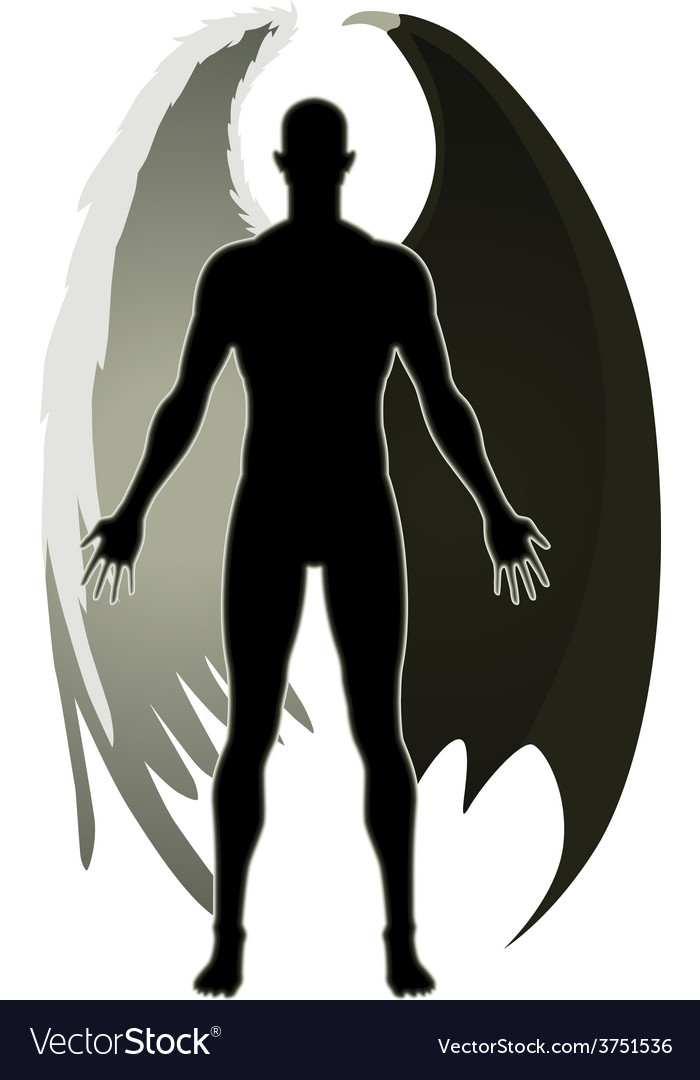 Good and evil vector | Price: 1 Credit (USD $1)