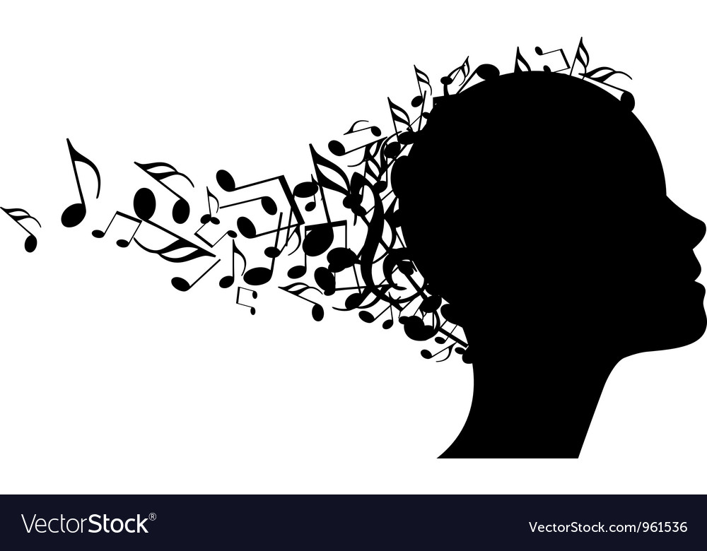 Musical head vector | Price: 1 Credit (USD $1)