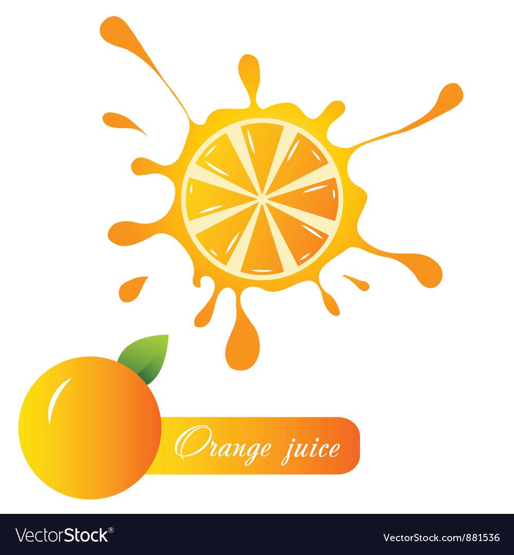 Orange juice vector   Price: 1 Credit (USD $1)