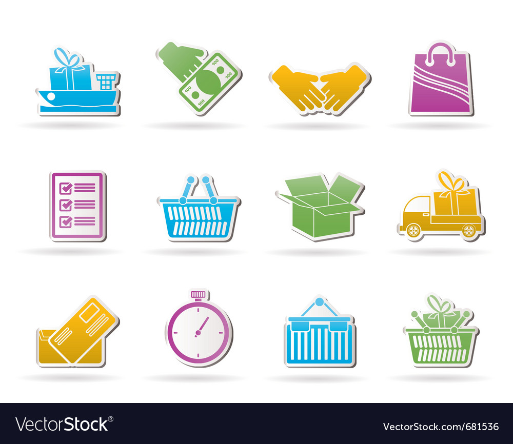 Shipping and logistic icons vector | Price: 1 Credit (USD $1)