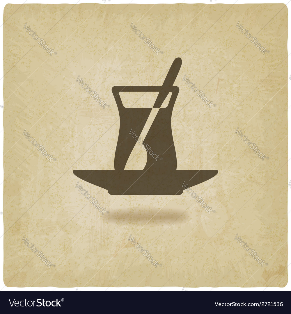 Turkish tea old background vector | Price: 1 Credit (USD $1)