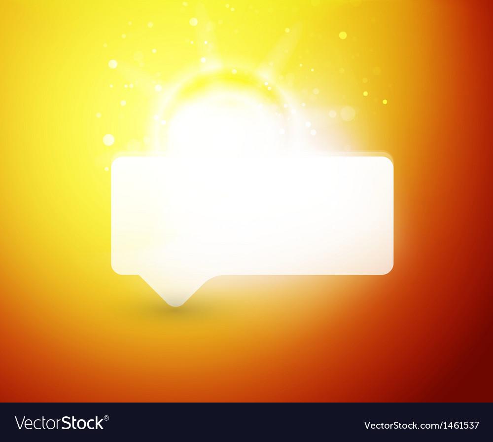 Bright color shiny speech bubble template vector | Price: 1 Credit (USD $1)