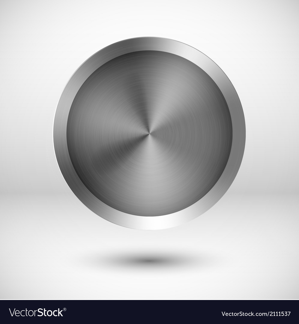 Chrome metallic button vector | Price: 1 Credit (USD $1)