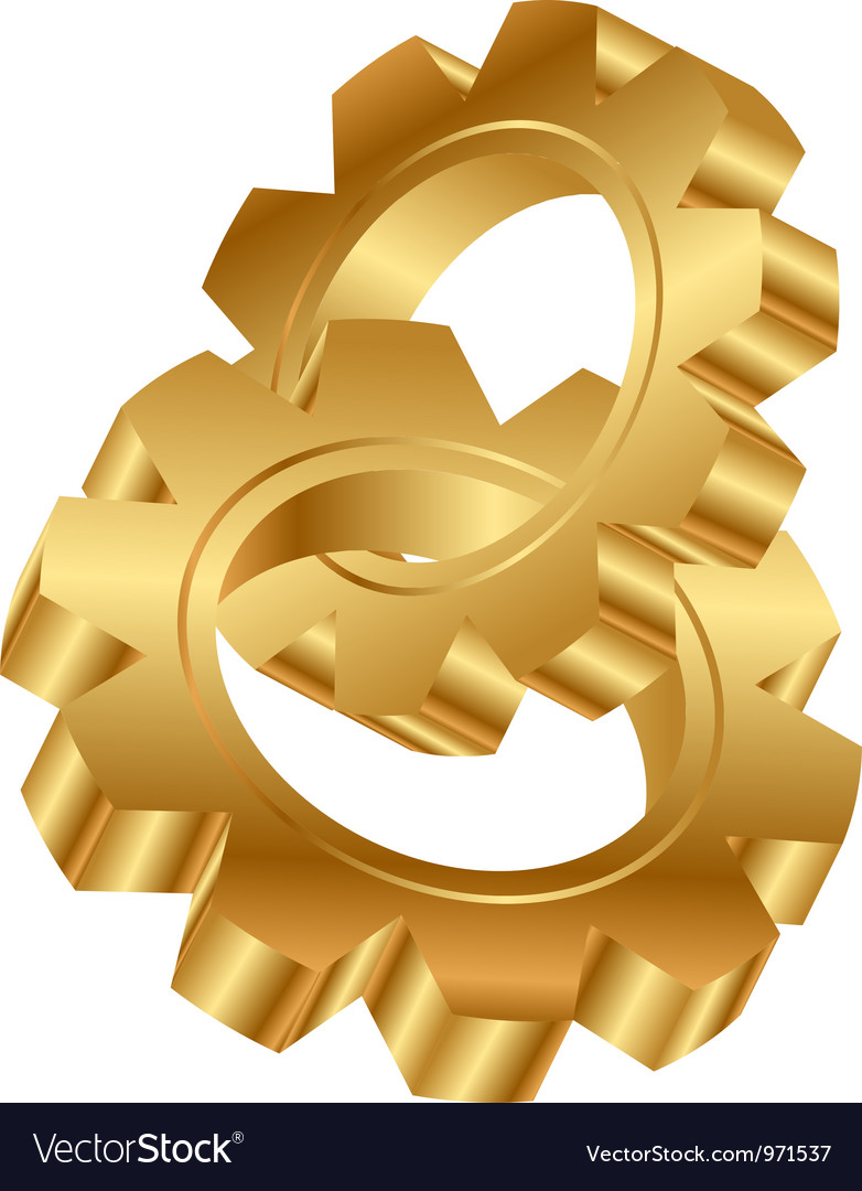 Cog wheels vector | Price: 1 Credit (USD $1)