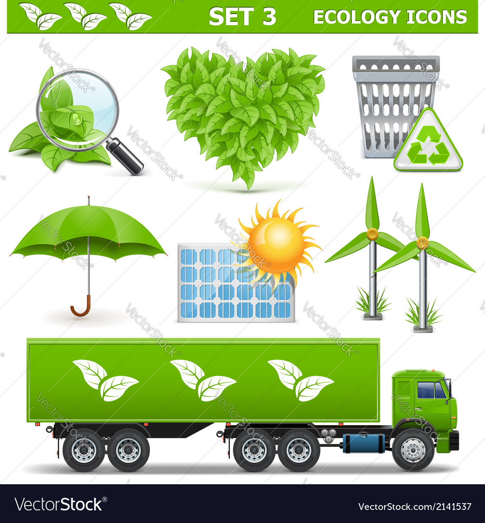 Ecology icons set 3 vector   Price: 3 Credit (USD $3)