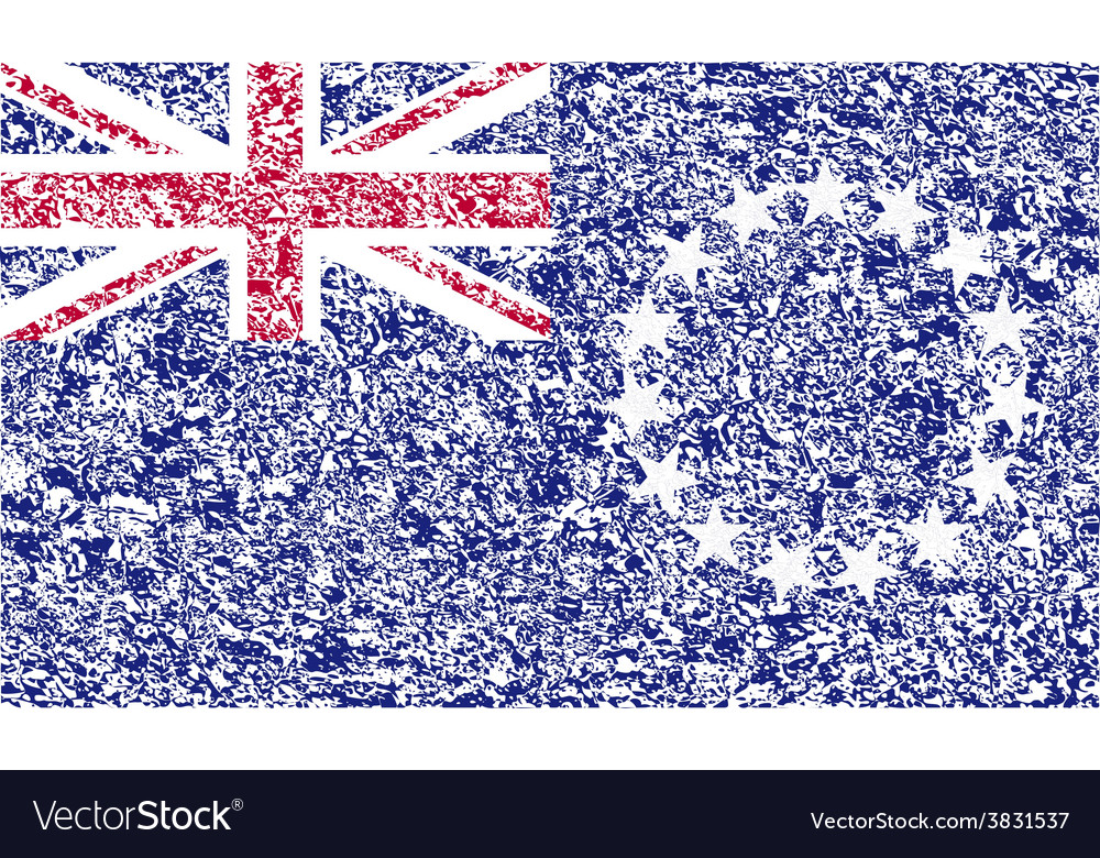 Flag of cook islands with old texture vector | Price: 1 Credit (USD $1)