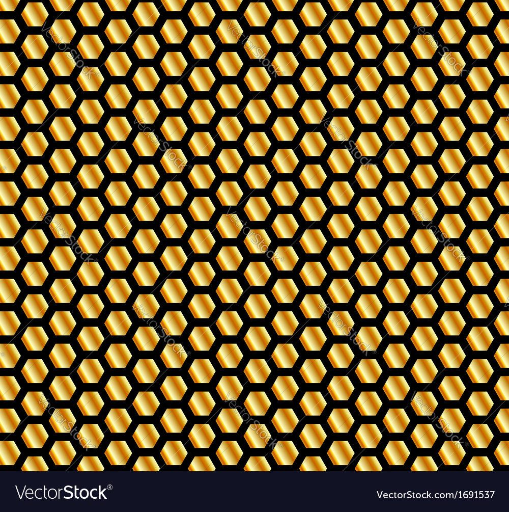 Golden beehive background vector | Price: 1 Credit (USD $1)