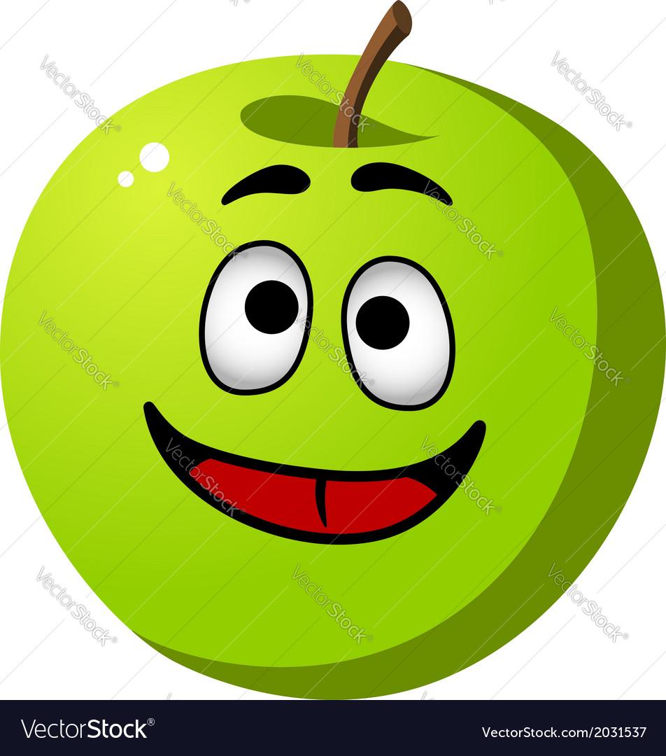 Healthy crisp green apple fruit vector | Price: 1 Credit (USD $1)