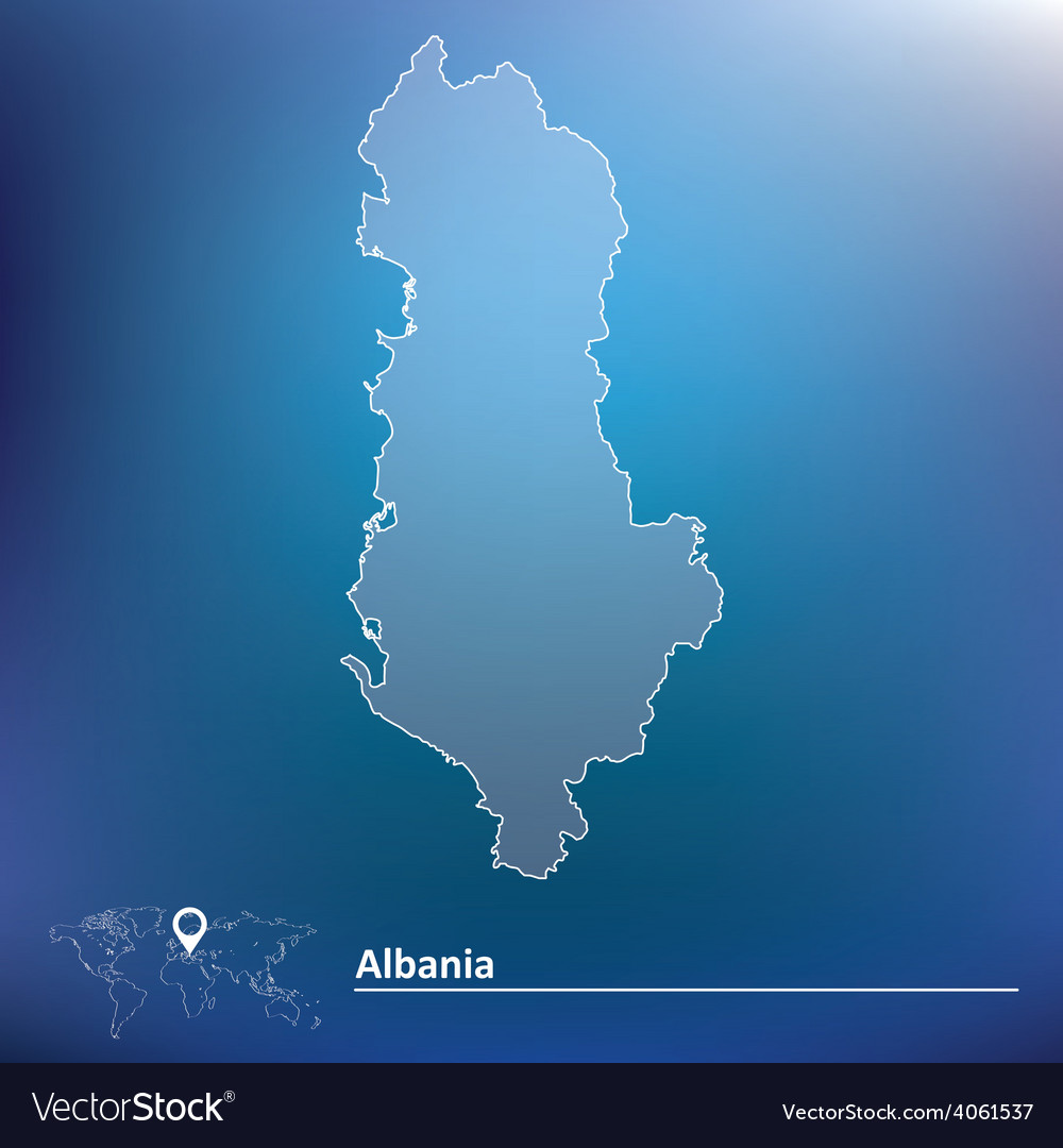Map of albania vector | Price: 1 Credit (USD $1)