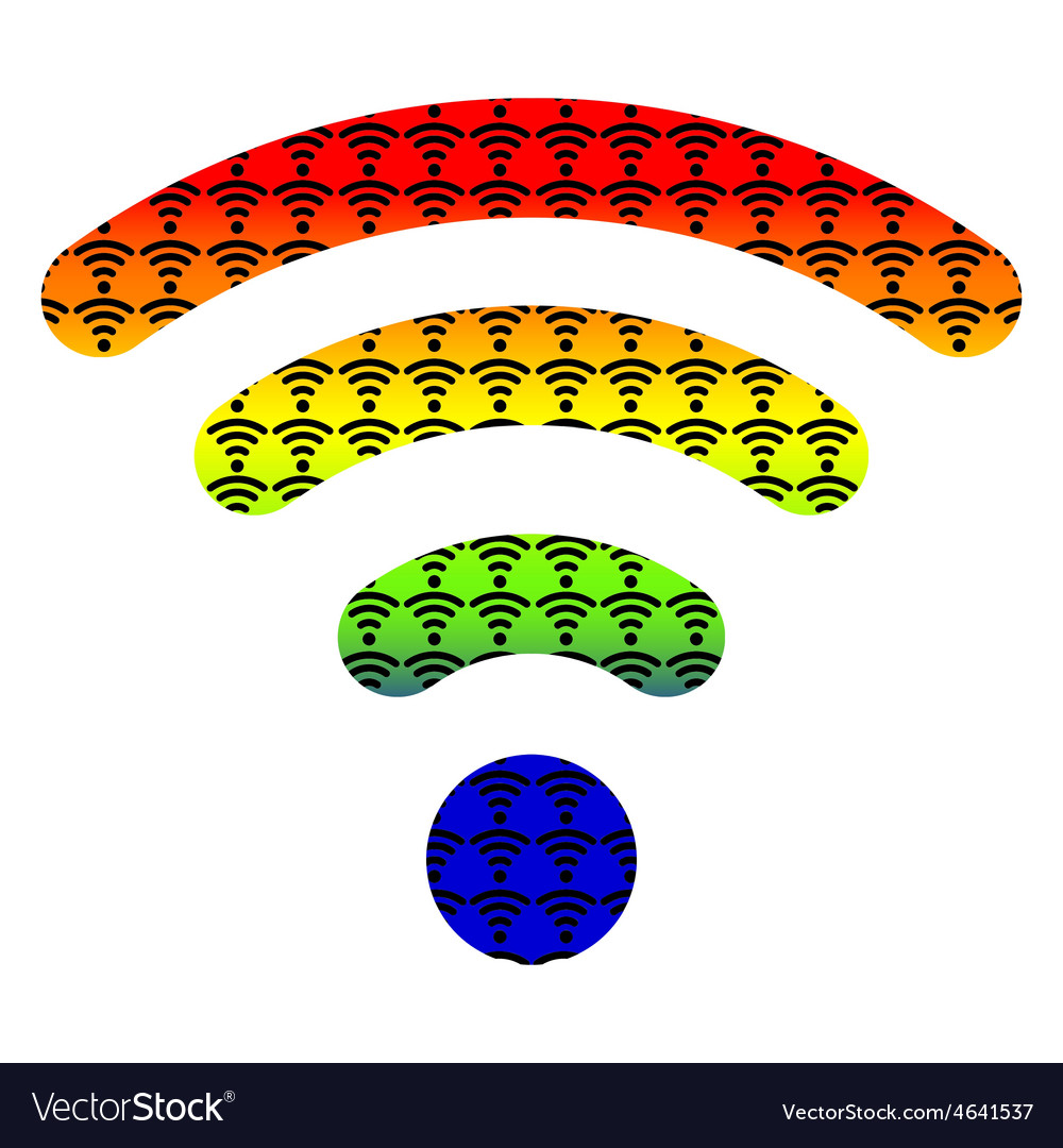 Multi color wifi wireless hotspot internet signal vector | Price: 1 Credit (USD $1)
