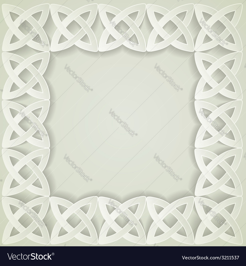 Paper celtic border vector | Price: 1 Credit (USD $1)