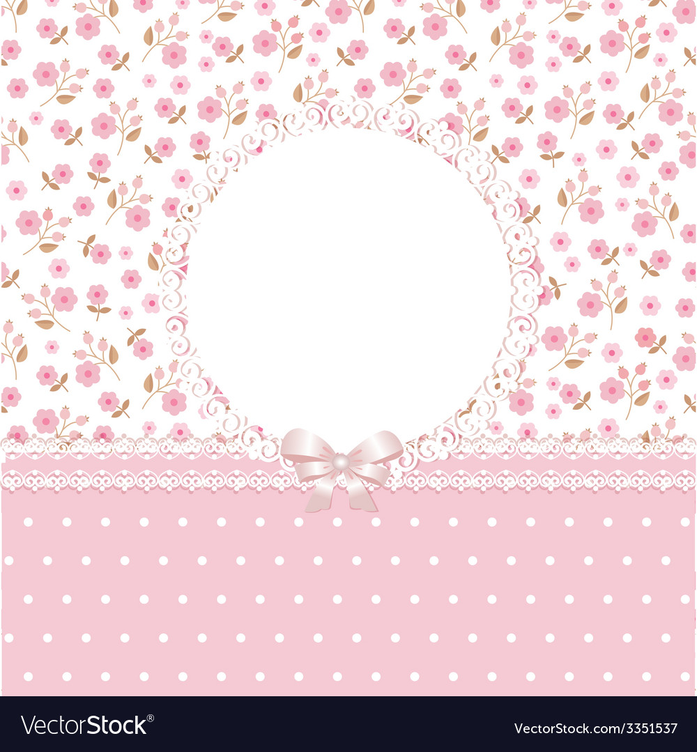 Pink floral background vector | Price: 1 Credit (USD $1)