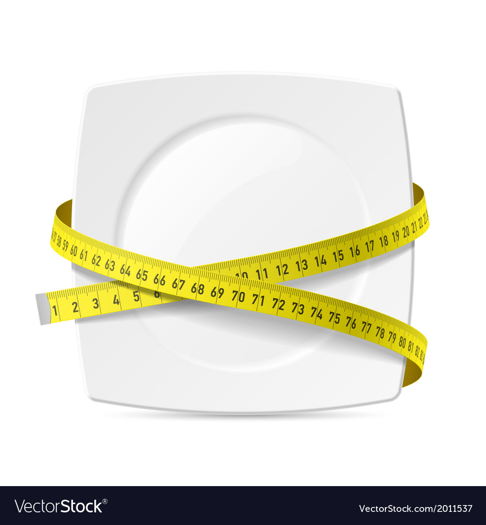 Plate with measuring tape vector | Price: 1 Credit (USD $1)
