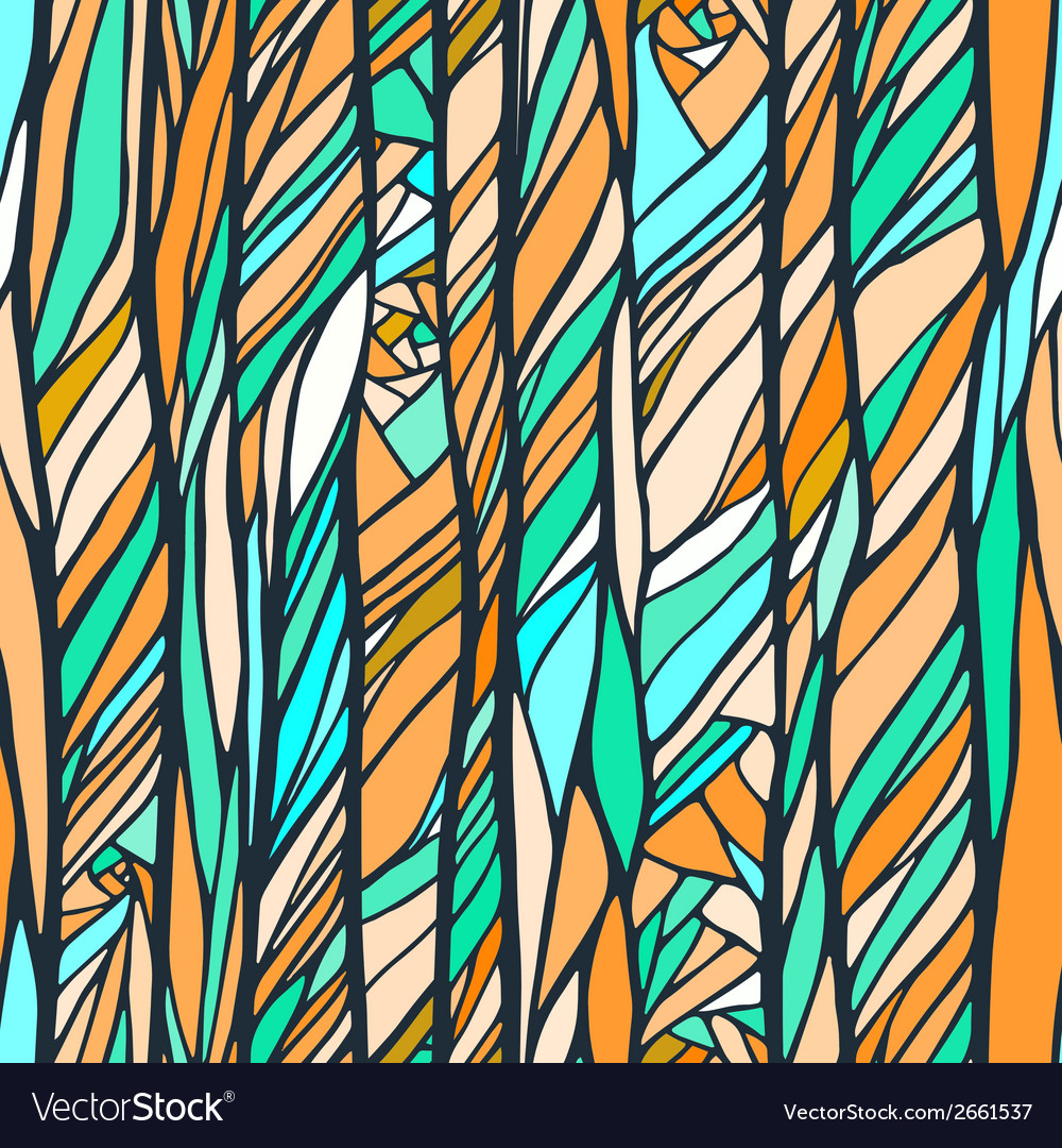 Seamless pattern with colorful abstract doodle vector | Price: 1 Credit (USD $1)