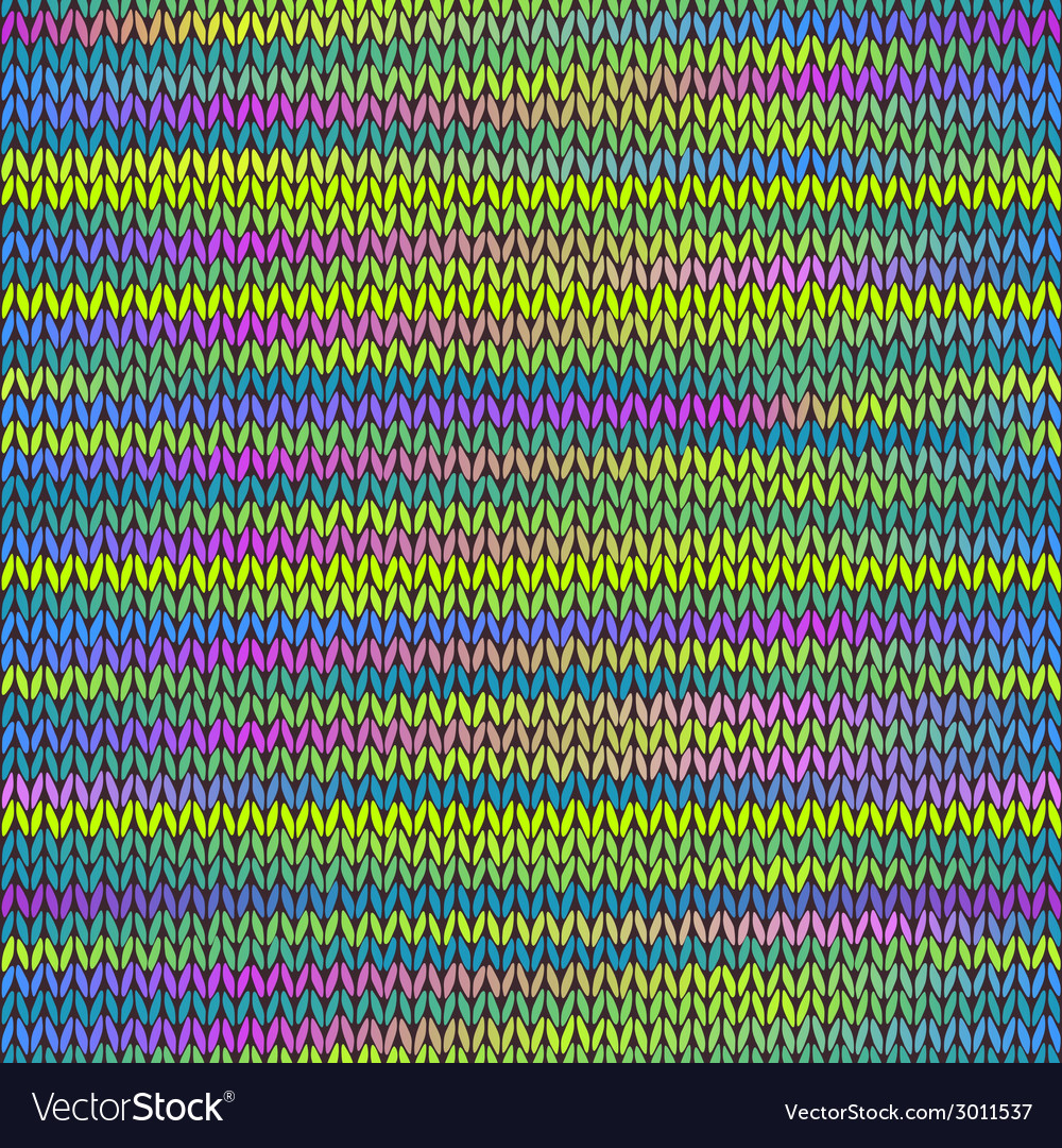Style seamless knitted melange pattern vector | Price: 1 Credit (USD $1)