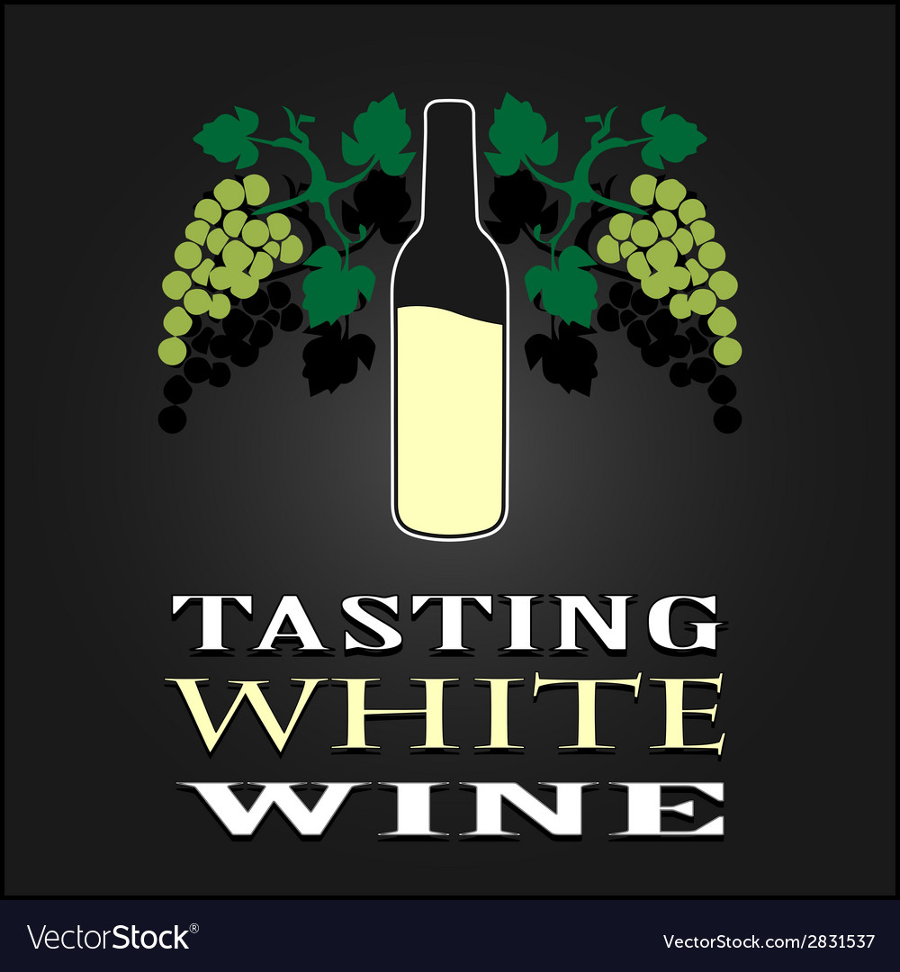 Tasting white wine poster vector | Price: 1 Credit (USD $1)