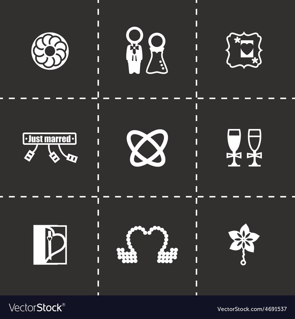Wedding icon set vector | Price: 1 Credit (USD $1)