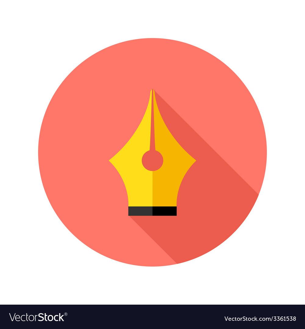 Brush pen flat circle icon vector | Price: 1 Credit (USD $1)