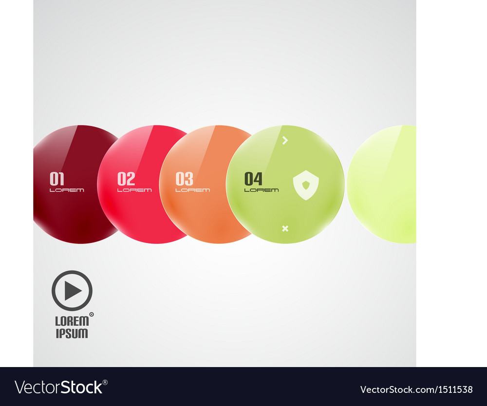 Circles presentation template vector | Price: 1 Credit (USD $1)
