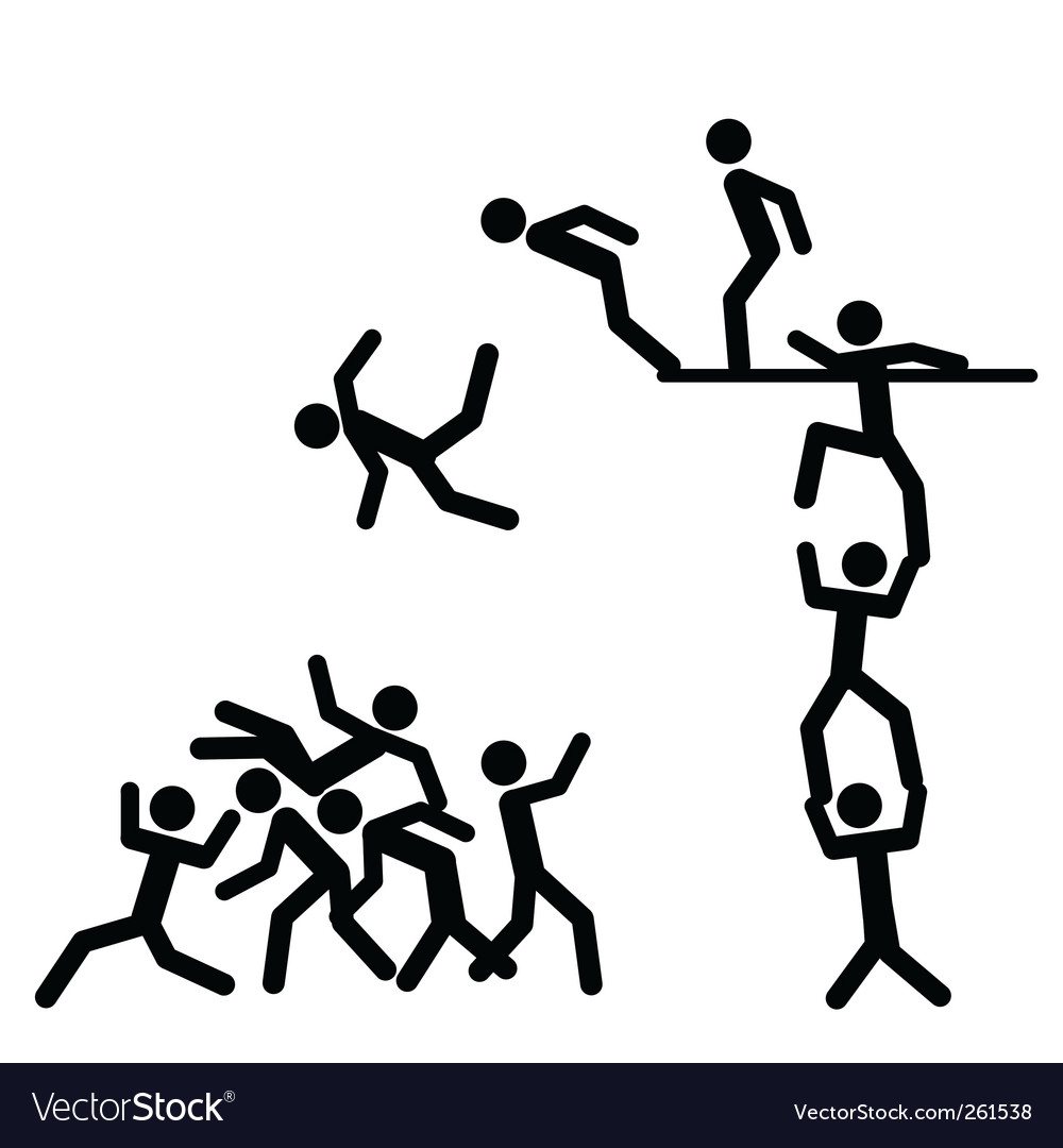 Falling down people vector | Price: 1 Credit (USD $1)